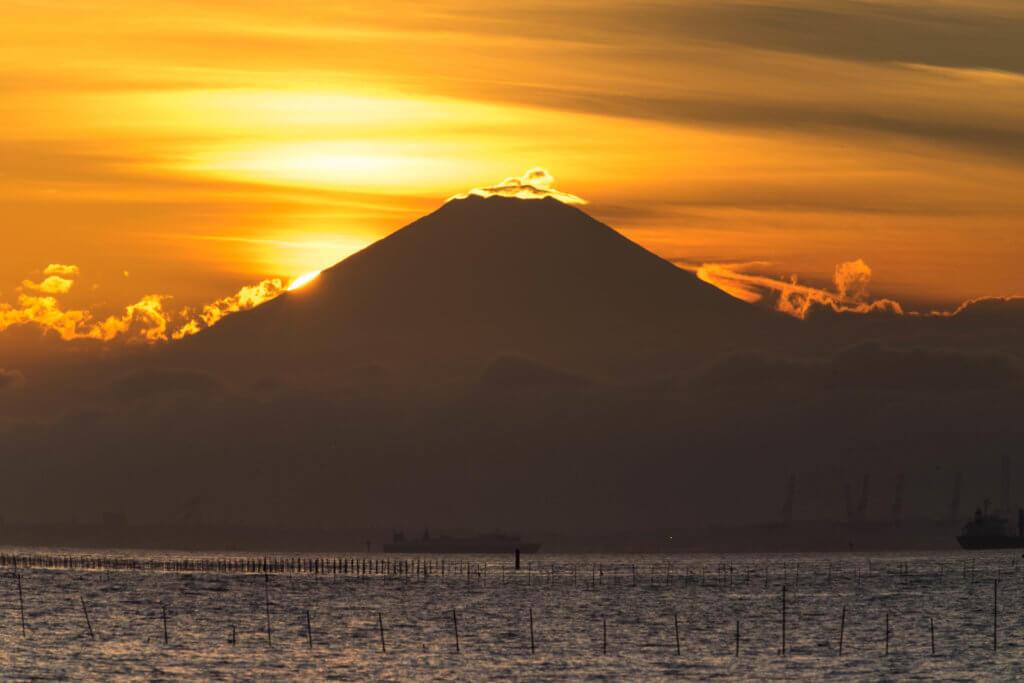 江川海岸 富士山