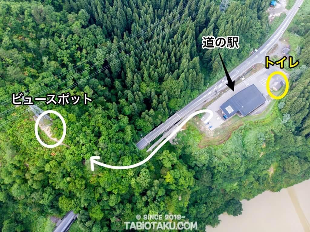 第一只見川橋梁へと続く道