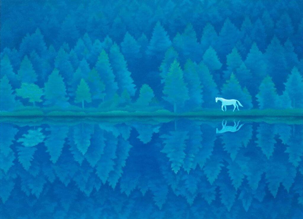 「緑響く」(1982) 収蔵:長野県信濃美術館・東山魁夷館