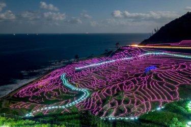 石川県にある美しい棚田「白米千枚田」のライトアップの詳細