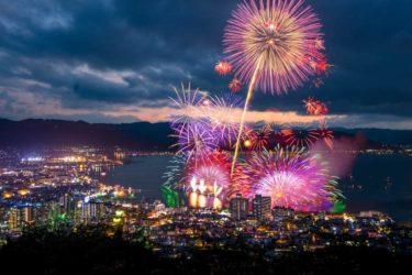 【2018】諏訪湖祭湖上花火大会の日程・交通事情や駐車場の詳細