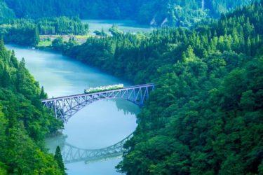 絶景と列車のコラボ!「只見線」第一只見川橋梁のアクセスや駐車場