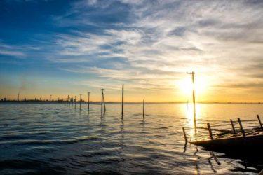 海に浮かぶ電柱が幻想的!千葉の江川海岸で海中電柱を見る
